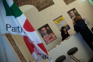 Interno del Comitato elettorale Torino2020 per Enzo Lavolta
