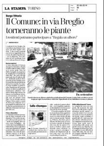 Nuove piante in via Breglio