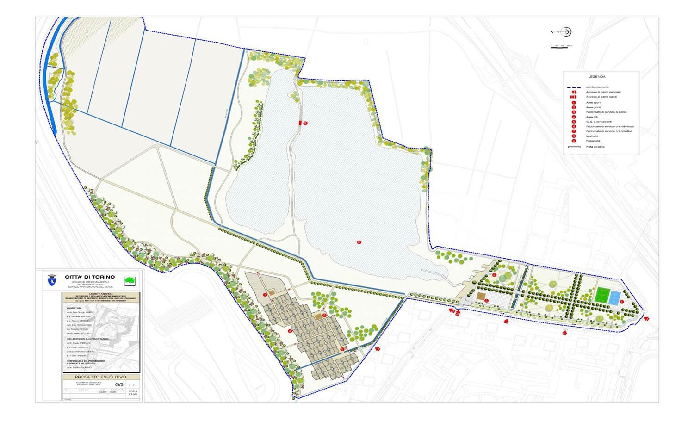 Progetto laghetti falchera recupero e riqualificazione for Planimetrie architettoniche